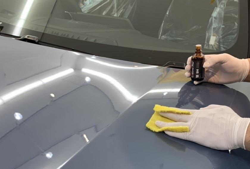 トップ被膜の補充|コーティングメンテナンス|和歌山で車のメンテナンスならCBW